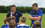 21 July 2016; Josh van der Flier, left, and Ross Molony of Leinster answer questions during the Bank of Ireland Leinster Rugby Summer Camp at Portlaoise RFC in Portlaoise, Co. Laois. Photo by Daire Brennan/Sportsfile