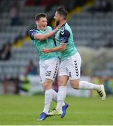 22 July 2016; Rory Patterson of Derry City celebrates with team-mate Conor McDermott, right, after scoring his side's first goal during the SSE Airtricity League Premier Division match between Bohemians and Derry City in Dalymount Park, Dublin. Photo by Eóin Noonan/Sportsfile