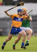 9 July 2016; Podge Collins of Clare in action against Paul Browne of Limerick during the GAA Hurling All-Ireland Senior Championship Round 2 match between Clare and Limerick at Semple Stadium in Thurles, Tipperary. Photo by Stephen McCarthy/Sportsfile