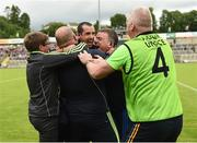 23 July 2016; Tipperary manager Liam Kearns surrounded by his management team after the final whistle their GAA Football All-Ireland Senior Championship, Round 4A, game at Kingspan Breffni Park in Co Cavan. Photo by Oliver McVeigh/Sportsfile