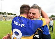 23 July 2016; Tipperary manager Liam Kearns celebrates with Peter Acheson after the final whistle of the GAA Football All-Ireland Senior Championship, Round 4A, game at Kingspan Breffni Park in Co Cavan. Photo by Oliver McVeigh/Sportsfile