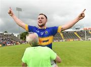 23 July 2016; Kevin O'Halloran of Tipperary celebrates after the final whistle of the GAA Football All-Ireland Senior Championship, Round 4A, game at Kingspan Breffni Park in Co Cavan. Photo by Oliver McVeigh/Sportsfile