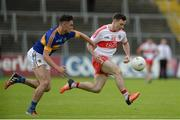 23 July 2016; Niall Toner of Derry in action against Michael Quinlivan of Tipperary during the GAA Football All-Ireland Senior Championship, Round 4A, game at Kingspan Breffni Park in Co Cavan. Photo by Oliver McVeigh/Sportsfile