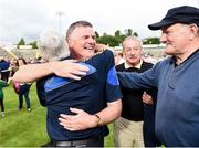 23 July 2016; Tipperary manager Liam Kearns celebrates with supporters after the final whistle of the GAA Football All-Ireland Senior Championship, Round 4A, game at Kingspan Breffni Park in Co Cavan. Photo by Oliver McVeigh/Sportsfile