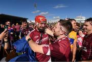 24 July 2016; Joe Canning of Galway is congratulated by supporters following his side's victory in the GAA Hurling All-Ireland Senior Championship quarter final match between Clare and Galway at Semple Stadium in Thurles, Co Tipperary. Photo by Stephen McCarthy/Sportsfile