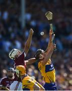 24 July 2016; Daithí Burke of Galway in action against Colin Ryan of Clare during the GAA Hurling All-Ireland Senior Championship quarter final match between Clare and Galway at Semple Stadium in Thurles, Co Tipperary. Photo by Daire Brennan/Sportsfile