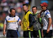24 July 2016; Clare manager Davy Fitzgerald in discussion with his backroom team during the GAA Hurling All-Ireland Senior Championship quarter final match between Clare and Galway at Semple Stadium in Thurles, Co Tipperary. Photo by Stephen McCarthy/Sportsfile