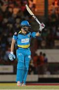 24 July 2016; Shane Watson brings up 50  during Match 23 of the Hero Caribbean Premier League match between St Lucia Zouks and Guyana Amazon Warriors at the Daren Sammy Cricket Stadium in Gros Islet, St Lucia. Photo by Ashley Allen/Sportsfile