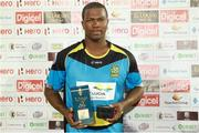 24 July 2016; Man of the match Johnson Charles during Match 23 of the Hero Caribbean Premier League match between St Lucia Zouks and Guyana Amazon Warriors at the Daren Sammy Cricket Stadium in Gros Islet, St Lucia. Photo by Ashley Allen/Sportsfile