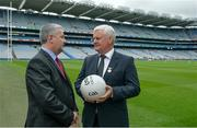 25 July 2016; Pictured in attendance at the announcement of Concussion Symposium in conjunction with Bon Secours and UPMC to be held in Croke Park on Saturday the 8th October are Mr Bill Maher, CEO Bon Secours Health System, and Uachtarán Chumann Lúthchleas Gael Aogán Ó Fearghail. Croke Park, Dublin. Photo by Piaras Ó Mídheach/Sportsfile