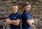 25 July 2016; Tipperary's Ronan Maher and Waterford's Austin Gleeson are pictured in Carrick-on-Suir, located close to the border of Tipperary and Waterford ahead of the Bord Gáis Energy GAA Hurling U-21 Munster Final.  The two counties will go head to head at Walsh Park in Waterford on Wednesday night aiming to succeed Limerick as provincial champions. The game takes place on Wednesday, July 27th at Walsh Park in Waterford with a 7.00 throw-in time. The game will be broadcast live on TG4. Photo by Stephen McCarthy/Sportsfile