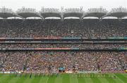 5 September 2010; The Tipperary and Kilkenny teams walk behind the Artane Band in the pre-match parade. GAA Hurling All-Ireland Senior Championship Final, Kilkenny v Tipperary, Croke Park, Dublin. Picture credit: Brendan Moran / SPORTSFILE