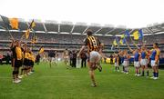 5 September 2010; Flagbearers on the pitch for the start of the game. GAA Hurling All-Ireland Senior Championship Final, Kilkenny v Tipperary, Croke Park, Dublin. Picture credit: David Maher / SPORTSFILE