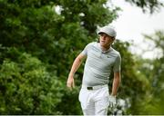 27 July 2016; Niall Horan of One Direction watches his shot on the 9th tee during the The Northern Ireland Open Pro-Am at Galgorm Castle in Ballymena, Antrim. Photo by David Fitzgerald/Sportsfile