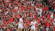 19 September 2010; Cork fans celebrate after Paul Kerrigan scored their side's 12th point during the GAA Football All-Ireland Senior Championship Final match between Down and Cork at Croke Park in Dublin. Photo by Paul Mohan/Sportsfile