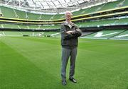 20 September 2010; Former Republic of Ireland manager Jack Charlton at launch of Airtricity's new 'Biggest Save' campaign which will save homes a phenomenal 20% on their domestic gas rates, Aviva Stadium, Lansdowne Road, Dublin. Picture credit: David Maher / SPORTSFILE