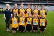 19 September 2010; The Down team, back row, left to right, Sinéad Ryan, Horeswood N.S., New Ross, Co. Wexford, Sarah Keaney, Gaelscoil Chnoc na Re, Co. Sligo, Aoibheann Byrne, Newtown-Dunleckney N.S., Co. Carlow, Megan Manning, Stonepark N.S., Co. Longford, Dearbhaile Beirne, St. Manachan's N.S., Mohill, Co. Leitrim, front row, left to right, Katie Collins, St. Joseph's N.S., Templemore, Co. Tipperary, Roisín Morgan, Ardeevin N.S., Williamstown, Co. Galway, Carla Ní Dhochartaigh, Gaelscoil Ultain, Co. Monaghan, Karla Emerson, Tallanstown N.S., Dundalk, Co. Louth, Sasha Byrne, St. Patrick's P.S., Castlederg, Co. Tyrone. GAA I.N.T.O. Mini-Sevens during half time of the GAA Football All-Ireland Senior Championship Final, Down v Cork, Croke Park, Dublin. Picture credit: Dáire Brennan / SPORTSFILE