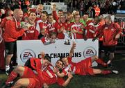 25 September 2010; The Sligo Rovers team celebrate after winning the EA Sports Cup. EA Sports Cup Final, Sligo Rovers v Monaghan United, The Showgrounds, Sligo. Picture credit: Barry Cregg / SPORTSFILE