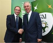 29 July 2016; Republic of Ireland manager Martin O'Neill, left, with FAI Chief Executive John Delaney during the FAI Media Awards at The Hotel Minella in Clonmel, Co Tipperary Photo by David Maher/Sportsfile