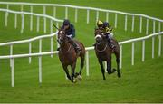 29 July 2016; Triplicate, left, with Donnacha O'Brien up, on their way to winning the Guinness European Breeders Fund Maiden ahead of Zulu Alpha, with Pat Smullen up, at the Galway Races in Ballybrit, Co Galway. Photo by Cody Glenn/Sportsfile