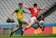 30 July 2016; JD Boyle of Donegal in action against Aidan Browne of Cork during the Electric Ireland GAA Football All-Ireland Minor Championship Quarter-Final match between Donegal and Cork at Croke Park in Dublin. Photo by Oliver McVeigh/Sportsfile