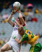 30 July 2016; Mark White of Cork in action against Nathan Boyle of Donegal during the Electric Ireland GAA Football All-Ireland Minor Championship Quarter-Final match between Donegal and Cork at Croke Park in Dublin. Photo by Oliver McVeigh/Sportsfile
