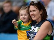 30 July 2016; Donegal Supporters Una Kavanagh and two year old Zoe Kavanagh, sister and daughter of Donegal's Rory Kavanagh during the GAA Football All-Ireland Senior Championship Round 4B match between Donegal and Cork at Croke Park in Dublin. Photo by Oliver McVeigh/Sportsfile