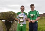 30 July 2016; Poc Fada winners James McInerney of Clare, Senior Hurling, left, and Cathal Kiely of Offaly, U16 Hurling, at the M Donnelly All-Ireland Poc Fada on Annaverna Mountain, Ravensdale, Co Louth. Photo by Piaras Ó Mídheach/Sportsfile