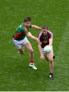30 July 2016; Kevin Maguire of Westmeath in action against Lee Keegan of Mayo during the GAA Football All-Ireland Senior Championship Round 4B match between Westmeath and Mayo at Croke Park in Dublin. Photo by Daire Brennan/Sportsfile