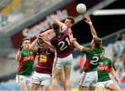 30 July 2016; Patrick Durcan and Conor O'Shea of Mayo in action against Ger Egan, John Heslin and Dean Mc Nicholas of Westmeath during the GAA Football All-Ireland Senior Championship Round 4B match between Westmeath and Mayo at Croke Park in Dublin. Photo by Oliver McVeigh/Sportsfile