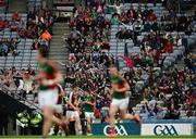 30 July 2016; Supporters in the Davin Stand do the 'Viking Clap' during the GAA Football All-Ireland Senior Championship Round 4B match between Westmeath and Mayo at Croke Park in Dublin. Photo by Daire Brennan/Sportsfile