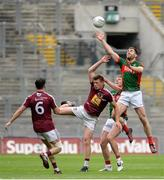 30 July 2016; Seamus O'Shea of Mayo in action against John Heslin of Westmeath during the GAA Football All-Ireland Senior Championship Round 4B match between Westmeath and Mayo at Croke Park in Dublin. Photo by Oliver McVeigh/Sportsfile