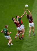 30 July 2016; Seamus O'Shea of Mayo in action against John Heslin, right, and Denis Corroon of Westmeath during the GAA Football All-Ireland Senior Championship Round 4B match between Westmeath and Mayo at Croke Park in Dublin. Photo by Daire Brennan/Sportsfile