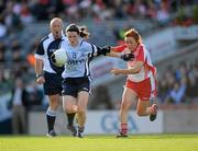 26 September 2010; Lyndsey Davey, Dublin, in action against Sinead McLaughlin, Tyrone. TG4 All-Ireland Senior Ladies Football Championship Final, Dublin v Tyrone, Croke Park, Dublin. Picture credit: Ray McManus / SPORTSFILE