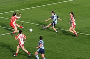 26 September 2010; Sinead Aherne, Dublin, scores her first and her side's second goal against Tyrone. TG4 All-Ireland Senior Ladies Football Championship Final, Dublin v Tyrone, Croke Park, Dublin. Picture credit: Brendan Moran / SPORTSFILE