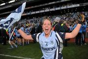 26 September 2010; Maria Kavanagh celebrates the Dublin win. TG4 All-Ireland Senior Ladies Football Championship Final, Dublin v Tyrone, Croke Park, Dublin. Picture credit: Ray McManus / SPORTSFILE