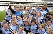 26 September 2010; Members of the Dublin team celebrate with the Brendan Martin Cup. TG4 All-Ireland Senior Ladies Football Championship Final, Dublin v Tyrone, Croke Park, Dublin. Picture credit: Ray McManus / SPORTSFILE