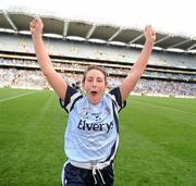26 September 2010; Siobhan McGrath celebrates the Dublin win. TG4 All-Ireland Senior Ladies Football Championship Final, Dublin v Tyrone, Croke Park, Dublin. Picture credit: Ray McManus / SPORTSFILE
