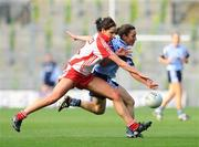 26 September 2010; Denise Masterson, Dublin, in action against Sarah Donnelly, Tyrone. TG4 All-Ireland Senior Ladies Football Championship Final, Dublin v Tyrone, Croke Park, Dublin. Picture credit: Dáire Brennan / SPORTSFILE