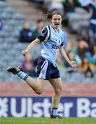 26 September 2010; Sinéad Aherne, Dublin, celebrates after scoring her side's second goal. TG4 All-Ireland Senior Ladies Football Championship Final, Dublin v Tyrone, Croke Park, Dublin. Picture credit: Dáire Brennan / SPORTSFILE
