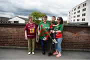 30 July 2016; Mayo supporters, left to right, Mary King, originally from Athlone, Co. Westmeath, but living in Castlebar, Co Mayo, Naoimi King, Finn Lee, aged 3, and Nicola King, from Castlebar, Co Mayo, ahead of the GAA Football All-Ireland Senior Championship Round 4B match between Westmeath and Mayo at Croke Park in Dublin. Photo by Daire Brennan/Sportsfile