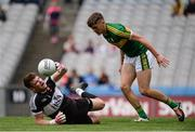 31 July 2016; Ben McKinless of Derry in action against David Clifford of Kerry during the Electric Ireland GAA Football All-Ireland Minor Championship Quarter-Final match between Kerry and Derry at Croke Park in Dublin. Photo by Piaras Ó Mídheach/Sportsfile