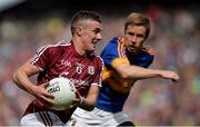 31 July 2016; Eamon Brennigan of Galway in action against Brian Fox of Tipperary during the GAA Football All-Ireland Senior Championship Quarter-Final match between Galway and Tipperary at Croke Park in Dublin. Photo by Piaras Ó Mídheach/Sportsfile