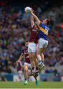 31 July 2016; Jimmy Feehan of Tipperary  in action against Liam Silke of Galway  during the GAA Football All-Ireland Senior Championship Quarter-Final match between Galway and Tipperary at Croke Park in Dublin. Photo by Eóin Noonan/Sportsfile