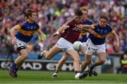 31 July 2016; Damien Comer of Galway in action against Brian Fox, left, Josh Keane and Bill Maher of Tipperary during the GAA Football All-Ireland Senior Championship Quarter-Final match between Galway and Tipperary at Croke Park in Dublin. Photo by Ray McManus/Sportsfile