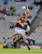 31 July 2016; Gary Sice of Galway  in action against Jimmy Feehan and Brian Fox of Tipperary during the GAA Football All-Ireland Senior Championship Quarter-Final match between Galway and Tipperary at Croke Park in Dublin. Photo by Eóin Noonan/Sportsfile