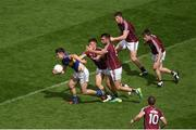 31 July 2016; Michael Quinlivan of Tipperary in action against Galway players, left to right, Eoghan Kerin, Paul Conroy, Gareth Bradshaw, and David Wynne, during the GAA Football All-Ireland Senior Championship Quarter-Final match between Galway and Tipperary at Croke Park in Dublin. Photo by Daire Brennan/Sportsfile
