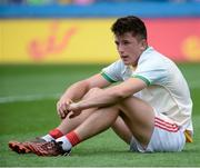 30 July 2016; A dejected Tadhg Corkery of Cork after the Electric Ireland GAA Football All-Ireland Minor Championship Quarter-Final match between Donegal and Cork at Croke Park in Dublin. Photo by Oliver McVeigh/Sportsfile