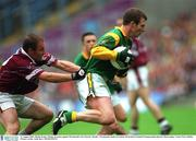 11 August 2001; Richie Kealy, Meath, in action against Westmeath's Ger Heavin. Meath v Westmeath, Bank of Ireland All-Ireland Football Championship Quarter final replay, Croke Park, Dublin. Picture credit; Aoife Rice / SPORTSFILE