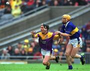 18 August 2001; Rory McCarthy, Wexford, in action against Paul Ormonde, Tipperary. Wexford v Tipperary, Guinness All-Ireland Hurling Championship Semi-Final Replay, Croke Park, Dublin. Picture credit; Ray McManus / SPORTSFILE